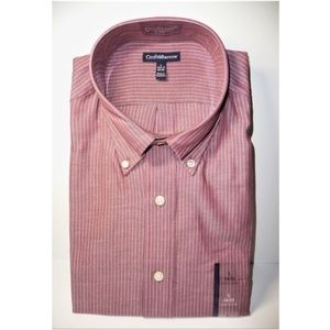 Croft & Barrow Stripped Shirt L  16.5 17 34/35 New